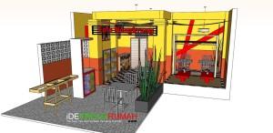 Merubah Fasad dan Interior Cafe Menjadi Trendi dan Energik
