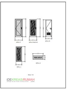 Gambar Kerja Rumah Mungil Minimalis Kopel Type 50