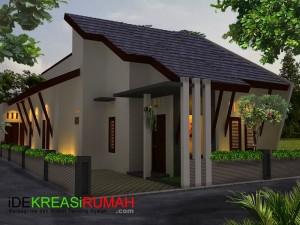 Desain Fasad Rumah 3D Modern Minimalis Tropis