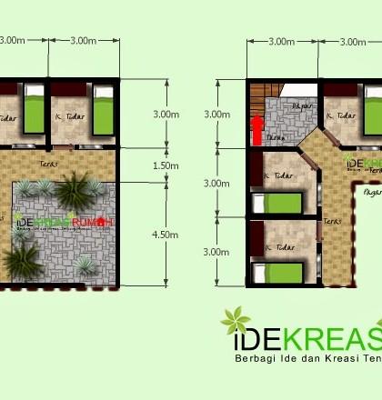 Desain Layout Denah Kos-Kosan 2 Lantai Pada Lahan Yang Kecil | Ide Kreasi Rumah