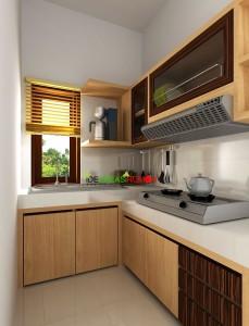 Desain Furniture Kithen Set Minimalis dengan Bentuk L