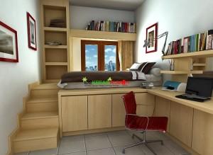Desain Interior Kamar Tidur Anak Ukuran Kecil yang Fungsional