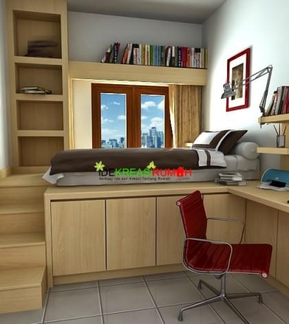 desain interior kamar tidur anak ukuran kecil yang