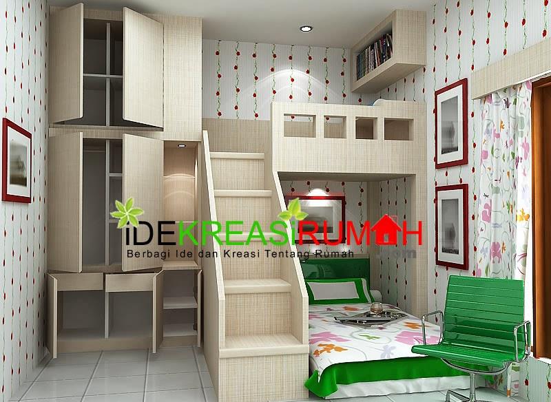 Desain Interior Kamar Tidur Tingkat Untuk Anak & Desain Interior Unik Kamar Tidur Tingkat Untuk Anak | Ide Kreasi Rumah