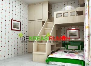 Desain Interior Kamar Tidur Tingkat Untuk Anak