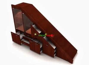 Memanfaatkan Ruang Kosong Bawah Tangga Dengan Lemari Minimalis