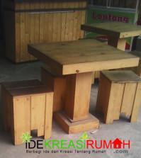 Kursi Kayu Cafe Modern Minimalis