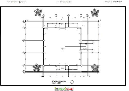 Desain Gambar Kerja Masjid Ukuran X Meter Ide Kreasi Rumah