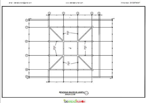 Rencana Balok Struktur Masjid