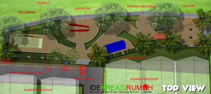 Desain Taman Bermain Top View