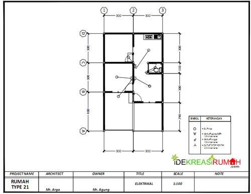 Rencana Sanitasi Gambar Kerja Rumah Type 21
