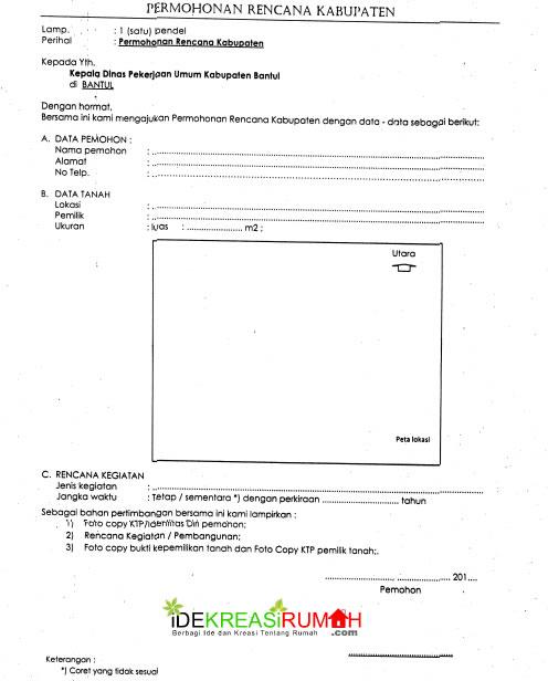 Contoh Form Pengajuan IMB 2