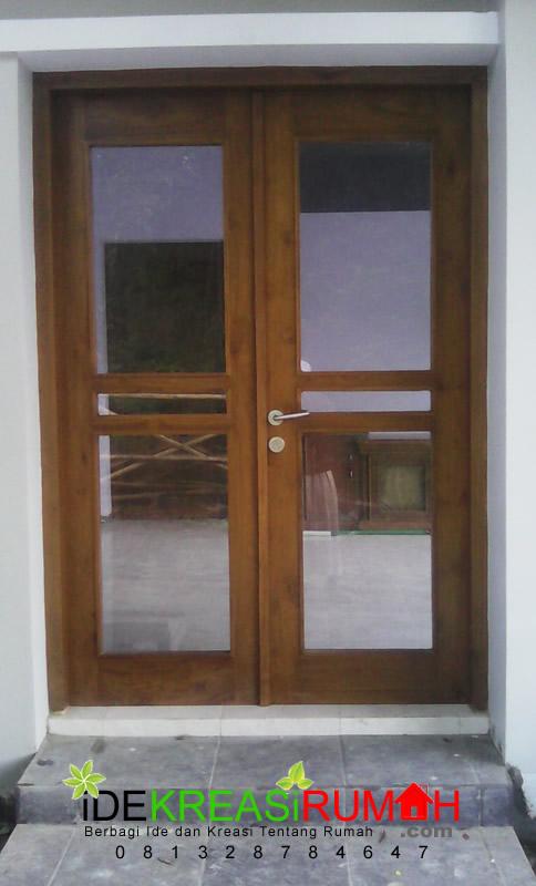 Model Pintu dengan 2 Daun Full Kaca