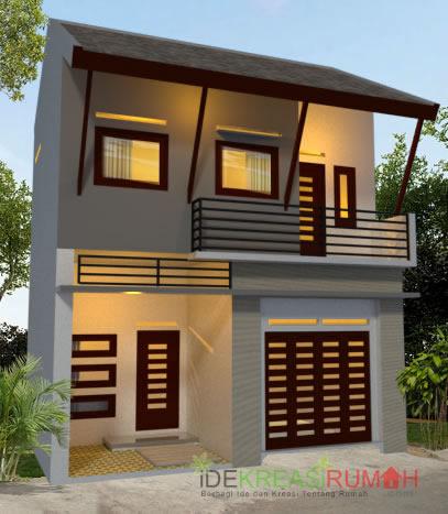 Desain Fasad Rumah 2 lantai lahan sempit