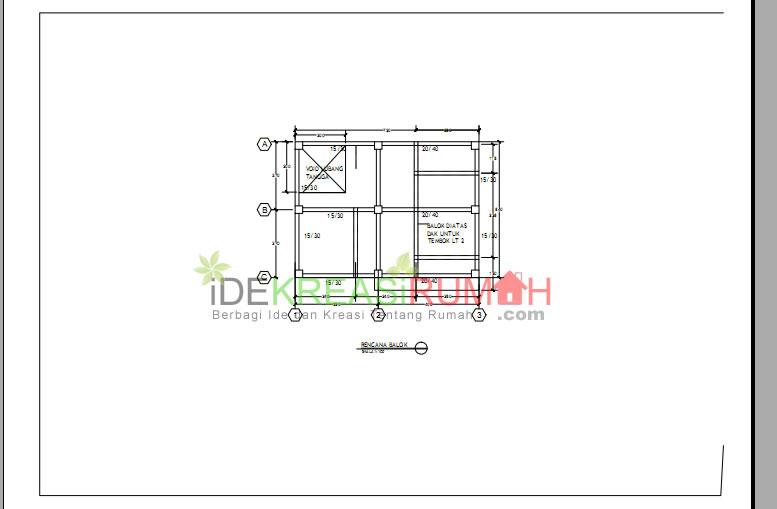 Gambar Balok Struktur