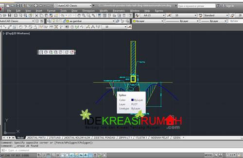 Gambar Kerja Pondasi Batu Kali + Download DWG