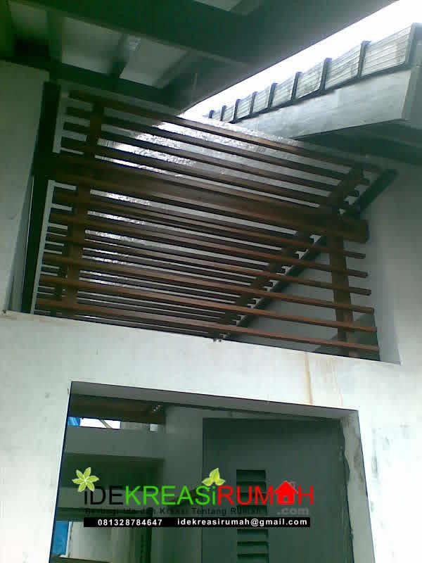 Plafon reng Kayu