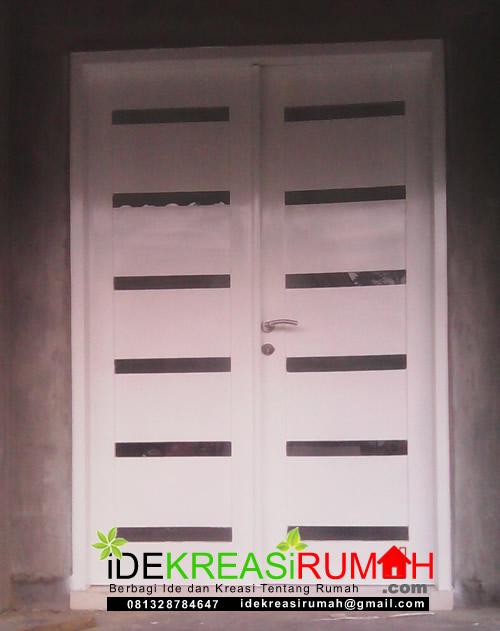 Desain Pintu Kayu Jati Ruang Tamu Putih Kombinasi Kaca | Ide Kreasi Rumah