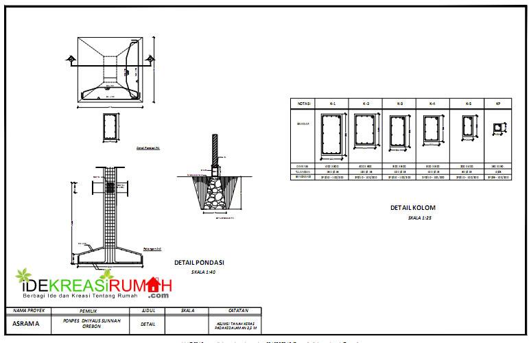 Struktur Gedung Asrama 3 Lantai