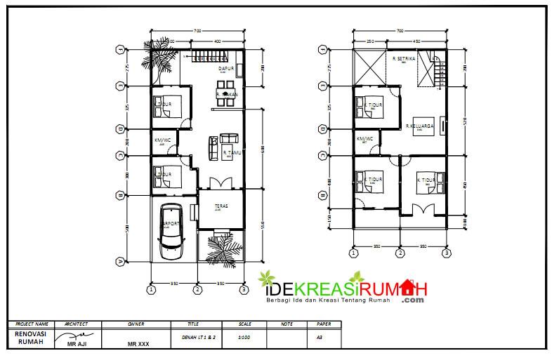 Desain Rumah 2 Lantai Dwg  desain rumah 2 lantai gaya mediterania dengan balkon luas