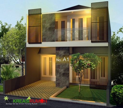 Desain Rumah Kotak 2 Lantai Modern Minimalis