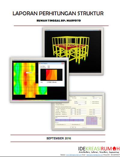 Cover Laporan Perhitungan Struktur IMB