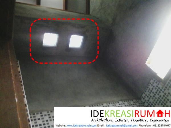Cahaya Alami dengan Glas block pada Dak