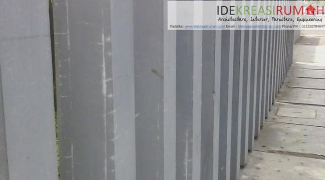 Detail Pagar Tiang Kolom Beton
