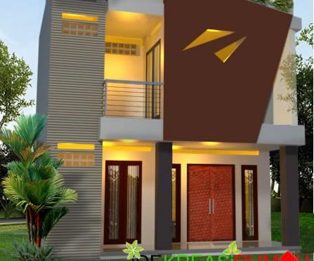 Desain Fasad Unik Rumah 2 Lantai