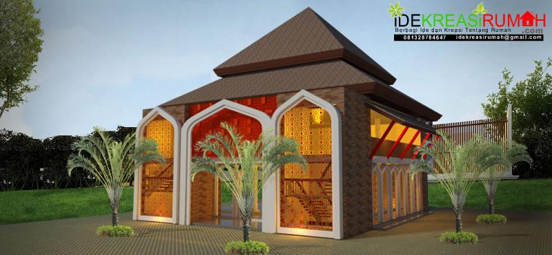 Desain Masjid 2 Lantai Tropis Jawa Atap Pendopo