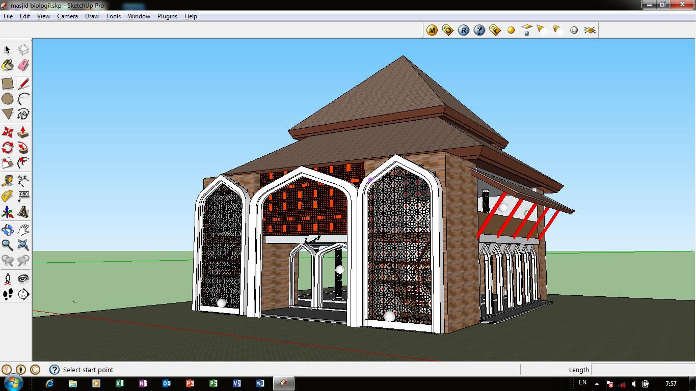 Draft Sketchup Masjid Pendopo