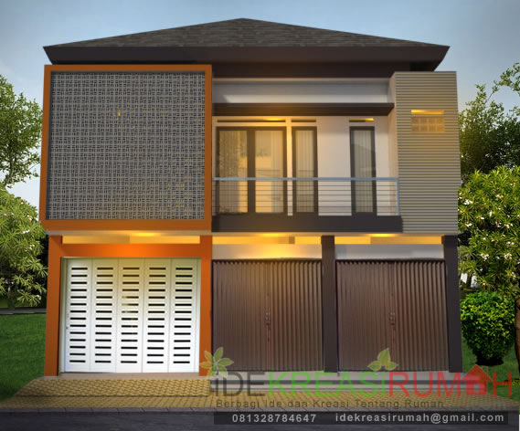 Desain Fasad Ruko Modern Minimalis