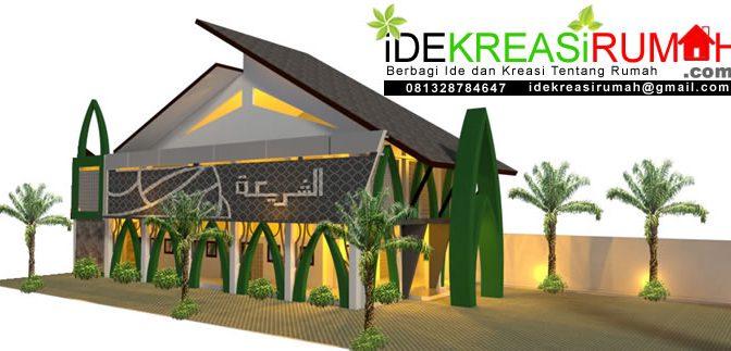 Desain Masjid Unik Tropis 2 Lantai