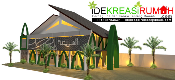 Desain Masjid Unik 2 Lantai
