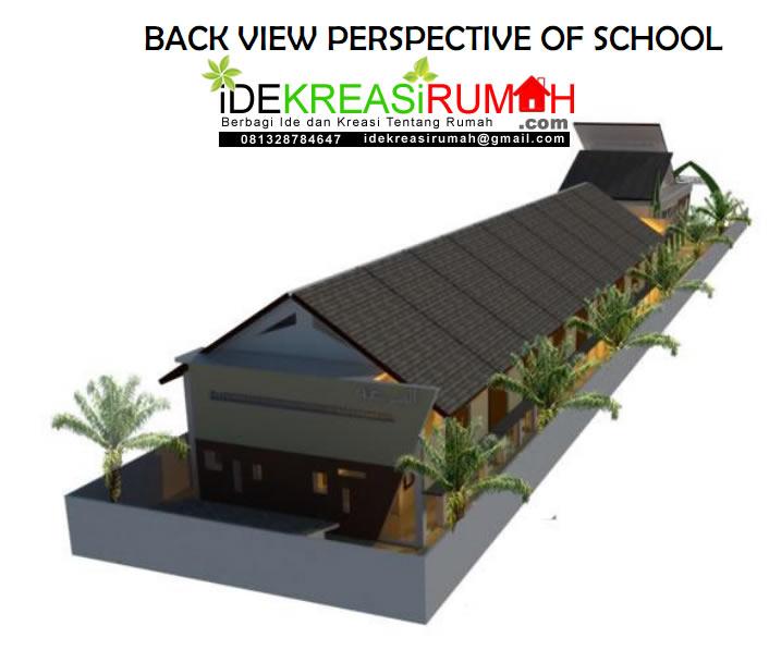 Desain Eksterior Gedung Sekolah Minimalis