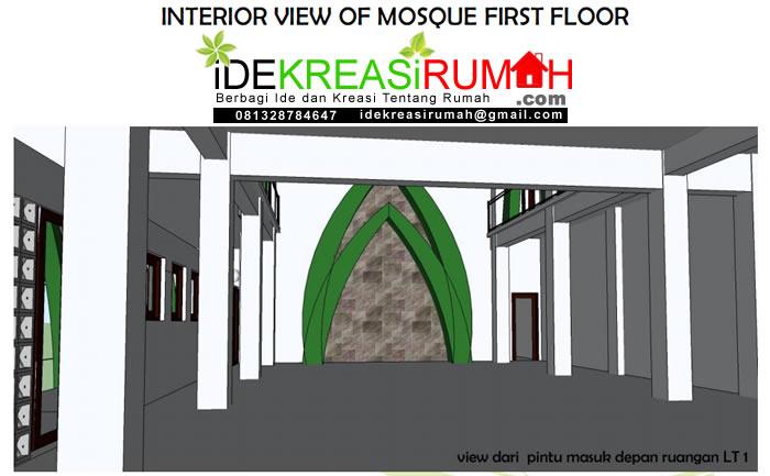 Interior Masjid Lantai 1