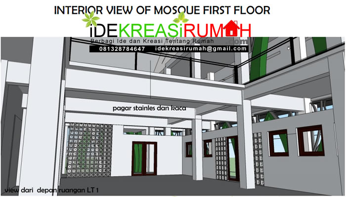 Interior Masjid View Keluar lantai 1