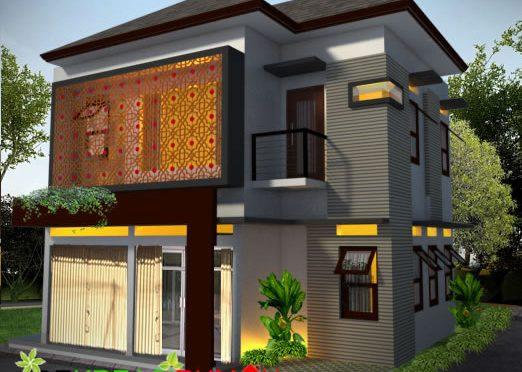Desain Eksterior Rumah Minimalis dengan Ruang Usaha