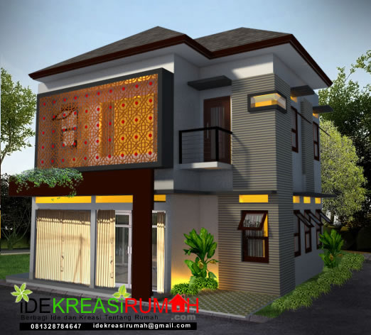Desain Eksterior Rumah Minimalis Dengan Ruang Usaha