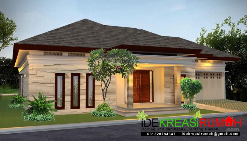 Desain Rumah Tropis 1 Lantai