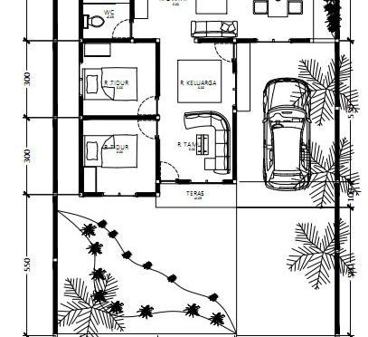 detail denah rumah