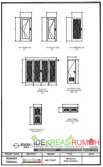 Desain Pintu Jendela Siap Print