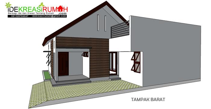 Desain Rumah Simple Minimalis Pada Lahan tidak Beraturan