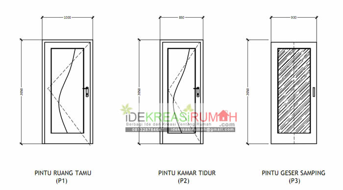 Pintu Ruang Tamu dan Kamar tidur
