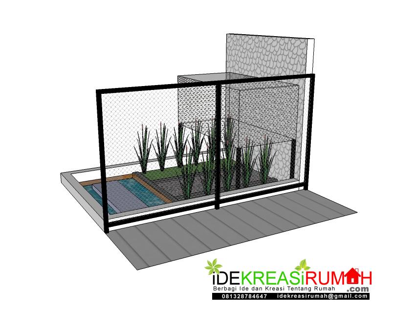 Hasil desain taman kecil