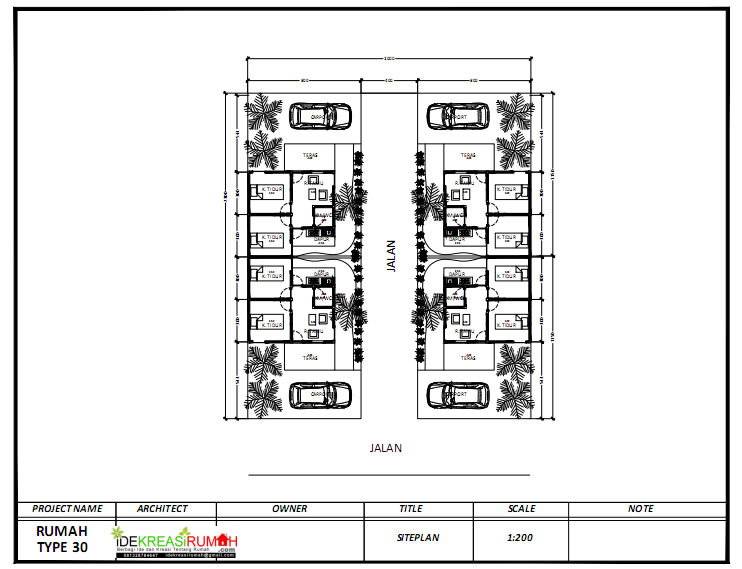 Siap Print PDF Download Siteplan