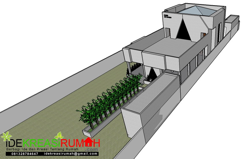Tampak Depan Timur Masjid Kotak Minimalis