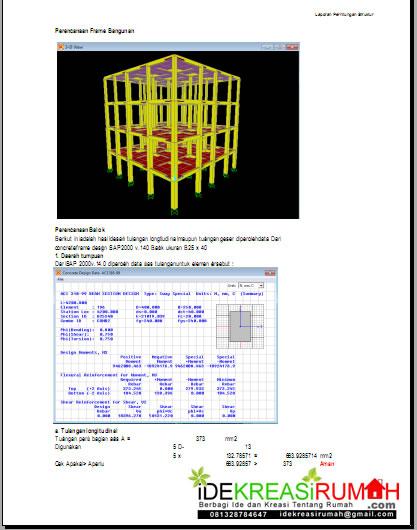 pemodelan di SAP2000