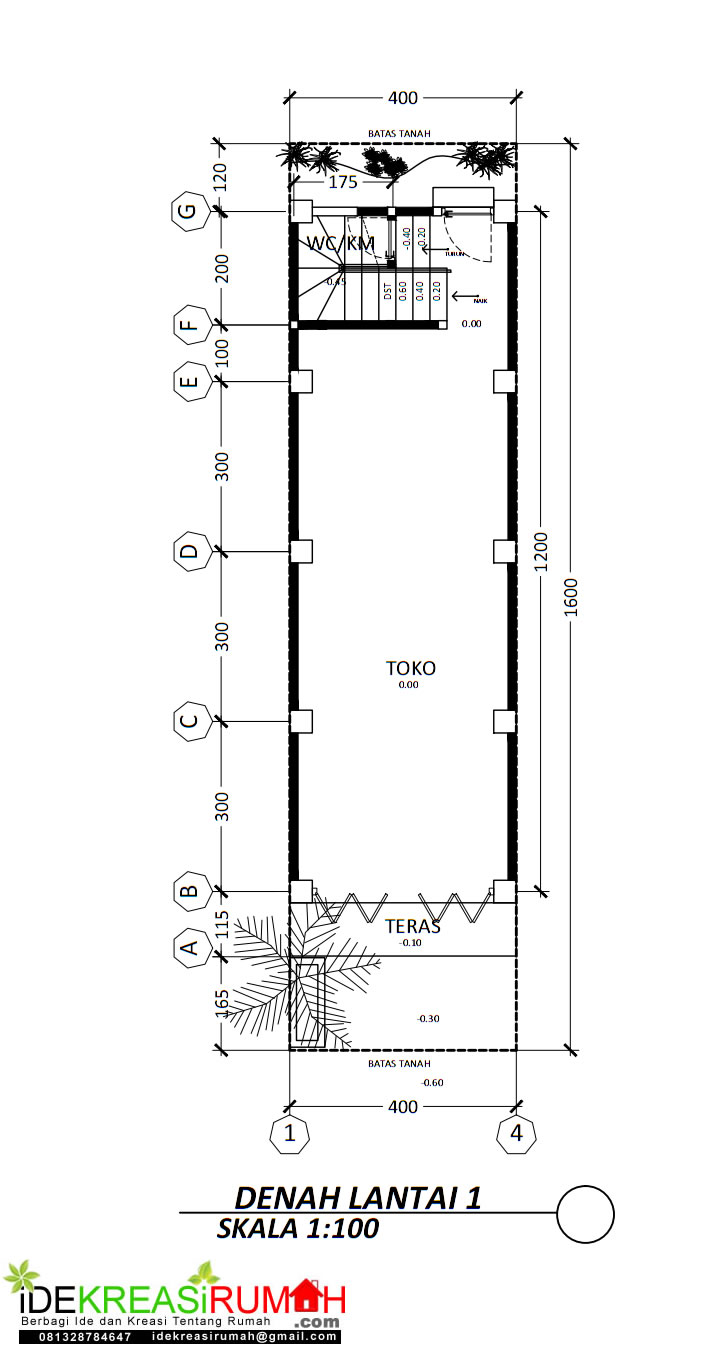 layout ruko lantai 1