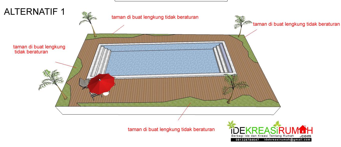 laternatif 1 solusi kolam tidak siku